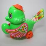 นกอุ้มไข่เชือกดึง สีเขียว