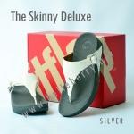 **พร้อมส่ง** FitFlop The Skinny Deluxe : Silver : Size US 6 / EU 37