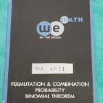 ►We Brain◄ MA 6031 หนังสือกวดวิชา คณิตศาสตร์ ม.5 วิธีเรียงสับเปลี่ยน และวิธีจัดหมู่ ความน่าจะเป็น มีสรุปเนื้อหา สูตรสำคัญ ก่อนตะลุยทำโจทย์แบบฝึกหัด มีข้อควรรู้ ข้อควรระวัง เทคนิคลัดเยอะมาก จดครึ่งเล่ม จดละเอียด
