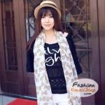 ผ้าพันคอแฟชั่นลายโบว์น่ารัก Kawaii Bow : สีขาว CK0242
