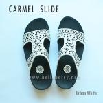 **พร้อมส่ง** FitFlop : CARMEL Slide : Urban White : Size US 6 / EU 37