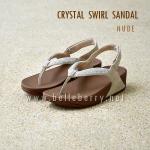 **พร้อมส่ง** FitFlop : CRYSTAL SWIRL Sandal : Nude : Size US 7 / EU 38
