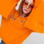 ASOS Angular Hexagon Aviator Sunglasses With Coloured Fade Orange Lens