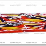 สติ๊กเกอร์ SMILE ปี 2001 รุ่น 5 ติดรถสีแดง