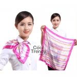 ผ้าพันคอจัตุรัส ผ้าพันคอ uniform รหัส S12 - size 60 x 60 cm