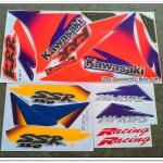 สติ๊กเกอร์ KR-R SSR ปี 97 รุ่น 3 ติดรถสีฟ้า