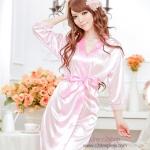 ชุดนอนไตล์ชุดคลุม สีชมพูสุดหวาน