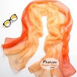 ผ้าพันคอแฟชั่นลายคลาสสิค Classic : สีส้มเหลือง CK0023