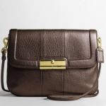COACH KRISTIN LEATHER CROSSBODY # 45128 สี brass/bronze