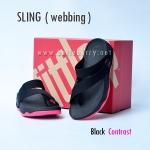 **พร้อมส่ง** รองเท้า FitFlop Sling (Webbing) : Black Contrast : Size US 7 / EU 38