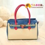 กระเป๋าแฟชั่นXiaoxiang กระเป๋าถือสีขาวฟ้า หูสีชมพู มีสายสะพายสีชมพูให้ด้วย น่ารักมากค่ะ