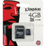 "Micro SD Card 4GB ""Kingston"" (SDC10, Class 10)"