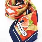 Coach ASHLEY FLORAL PRINT PONYTAIL SQUARE NECK SCARF # 97551