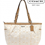Coach 3 Color Signature East West Gallery Large Tote Bag # 17698
