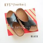 **พร้อมส่ง** รองเท้า FitFlop KYS (leather) : Black : Size US 6 / EU 37