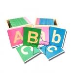 TY-1230-1 บัตรพยัญชนะกระดาษทราย ภาษาอังกฤษ ABC