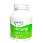 Vitamin E Natural100 iu 100 แคปซูล บำรุงผิวให้สดใส ลดรอยแผลเป็น