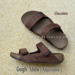 **พร้อมส่ง** FitFlop Gogh Slide ( Adjustable ) : Chocolate : Size US 12 / EU 45