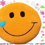 เบาะรองนั่งแฟนซี-พระจันทร์ยิ้ม-สีส้ม