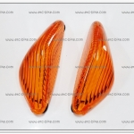 ฝาไฟเลี้ยวหน้า SONIC ฝาส้มพร้อมยาง (คู่ละ)