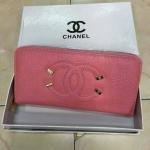 กระเป๋าสตางค์ Chanel มาใหม่แต่งโลโก้สวย ขนาด 4.5x7 นิ้ว ราคา 400 บาท สีชมพู