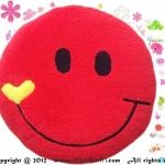 เบาะรองนั่งแฟนซี-พระจันทร์ยิ้ม-สีแดง