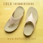 FitFlop LULU Shimmer : Nude : Size US 6 / EU 37