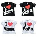 เสื้อยืดสกรีน I love papa mama