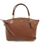COACH PEBBLE LEATHER SMALL KELSEY SATCHEL # 34493 สี IM/SADDLE