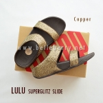 **พร้อมส่ง** FitFlop LULU Superglitz Slide : Copper : Size US 7 / EU 38