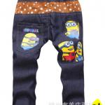 กางเกงผ้ายีนส์บาง ผ้านิ่มใส่สบาย (ลายมินเนี่ยน)
