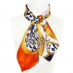 ผ้าพันคอชุดยูนิฟอร์ม ผ้าพันคอพนักงาน : FJ095 - size 50*50 cm