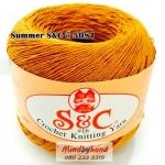 ด้ายถัก Summer S&C สีพื้น รหัส 5081