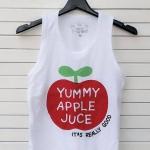 เสื้อกล้ามเด็กสกรีนลาย : YAMMY APPLE JUCE