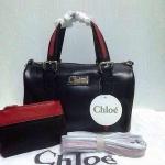 กระเป๋า  Chloe มาใหม่ ทรงสวย งานเนี๊ยบ ขนาด 10 นิ้ว พร้อมลูกกระเป๋า และสายสะพายยาว สีดำ