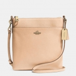 COACH NORTH/SOUTH SWINGPACK IN EMBOSSED TEXTURED LEATHER # 52348 สี LIGHT GOLD/APRICOT