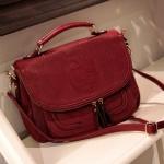 """""""พร้อมส่ง""""กระเป๋าแฟชั่น Axixi กระเป๋าถือ กระเป๋าสะพาย ช่องใส่ของเล็กๆด้านหน้า มีสายสะพายให้ค่ะ -สีแดง"""