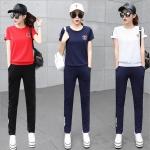 [PRE-ORDER] ชุดกีฬาไซส์ใหญ่ เซ็ท 2 ชิ้น เสื้อยืดแขนสั้น+กางเกงขายาว สีขาว/สีแดง/สีกรมท่า (M,L,XL,2XL,3XL)