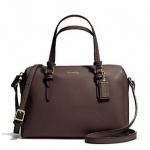 COACH BENNEETT LEATHER MINI SATCHEL CROSSBODY # 50430 สี Brass/Mahogany
