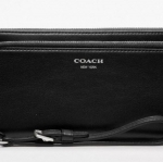 COACH LEGACY DOUBLE ACCORDION ZIP WALLET IN LEATHER # 48026