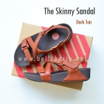 * NEW * FitFlop The Skinny Sandal : Dark Tan : Size US 7 / EU 38