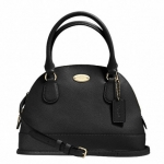 Coach Mini Cora Domed Satchel In Crossgrain Leather Handbags # 34090