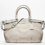 Coach madison gathered leather sophia satchel # 18620 Parchment