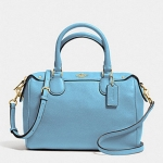 COACH PEBBLED LEATHER MINI BENNETT SATCHEL # 36677 สี IM/BLUE