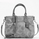COACH Ashley Dotted Op Art Mini Tote Crossbody # 20343 สี grey