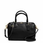 COACH PEBBLED LEATHER MINI BENNETT SATCHEL # 36677 สี IMITATION GOLD/BLACK