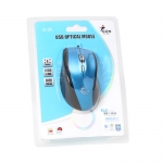 USB Optical Mouse I-CON (IC-26) Blue/Black