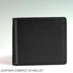 Coach Men's Heritage Web Leather Compact Id Wallet # 74688