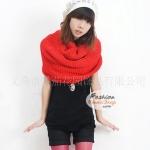 ผ้าพันคอไหมพรมแฟชั่นสไตล์เกาหลี Loop Loop : สีแดง GH0003