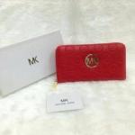 กระเป๋าสตางค์ MK มาใหม่ ซิปเดียว งานสวย ขนาด 4.5x7 นิ้ว ราคา 400 บาท สีแดง